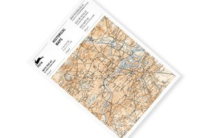 Historical Maps, A5 Writing Paper&Notepad