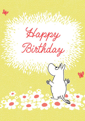 Moomin Flowers, Greeting Card