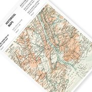 Historical Maps, A4 Writing Paper&Notepad