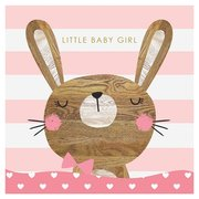 Bunny New Baby Girl, Greeting Card
