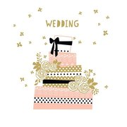 Wedding Cake, Greeting Card