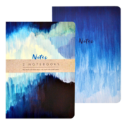 2 x A5 - Blue Abstract  Notebooks