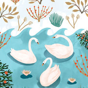 Three Swans a Swimming, Cards-Xmas singles