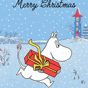 Moomin Merry Christams gift, Greeting Card