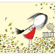 Autumn, Postcard