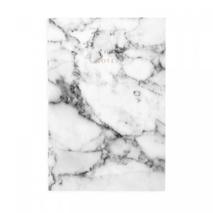 White Marble, A4ish Notebook