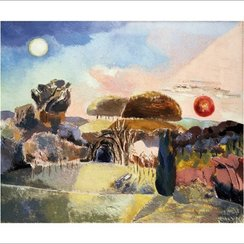 Landscape of the Vernal Equinox (III), Greeting Card