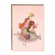 Mermaid Rock Greetings Card