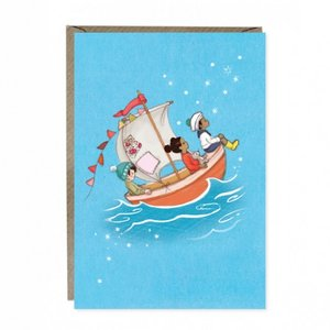 Sail Boat Dreams Greetings Card