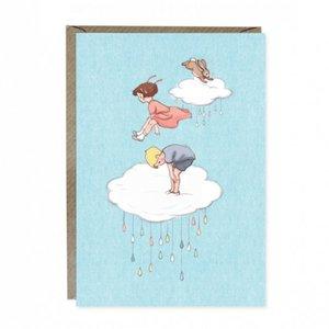Cloud Jumping Greetings Card