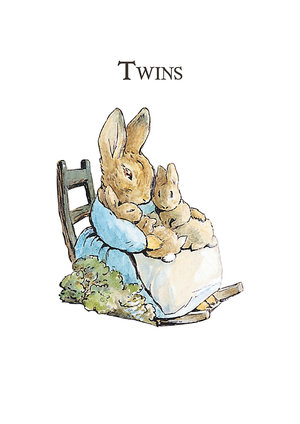 Beatrix Potter Twins, Greeting Card