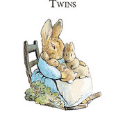 Beatrix Potter Twins, Greeting Card