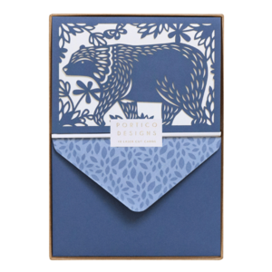 Folklore Bear, Boxed Notecards