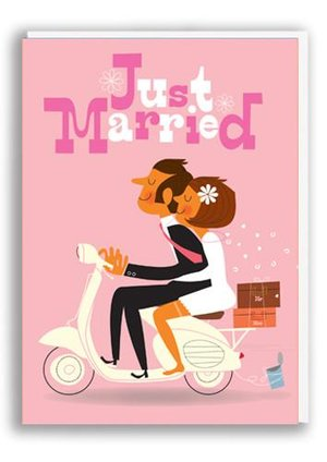 Just Married, Greeting Card