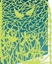 Lasercut Birds in Tree, Cards - RLB