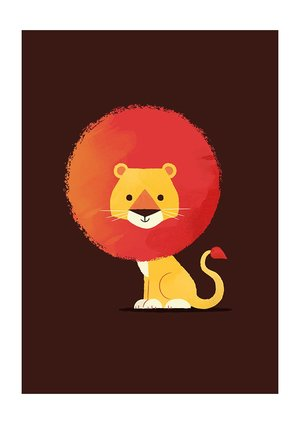 Lion, Greeting Card