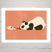 The Pug and the Panda, Greeting Card