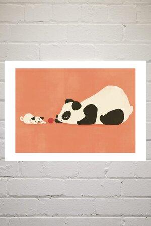 The Pug and the Panda, Greeting Card