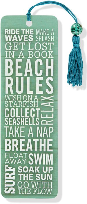 Beaded Bookmark, Beach Rules