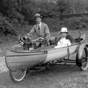 Mr.Armstrong has invented-Canoe- MC,1920, Greeting Card