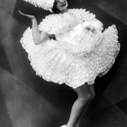 Roller Skating dancer of the 1920s, Greeting Card