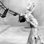 Dancer,Rajah,balancing a chair,1912, Greeting Card