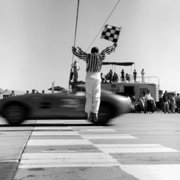 Crossing the winning line, 1960s, Greeting Card
