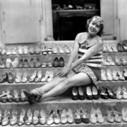 French actress/singer-shoes, Greeting Card