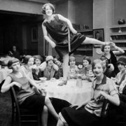 High jinks during a girl´s night out,1920s, Greeting Card