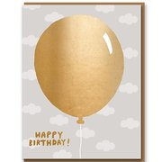 Gold Balloon, Greeting Card