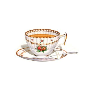 AFTERNOON TEA Fluted Roses, notecard