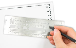 Metal Stencil Bookmark