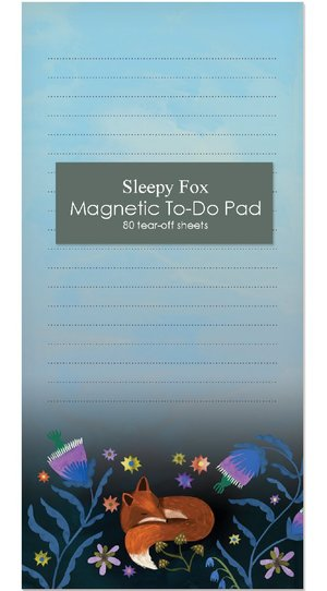 Sleepy Fox, Magnetic To-Do Pad