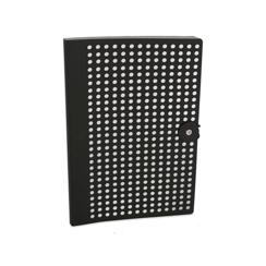 Black/ Silver Foil Full Circle, B5 Notebook