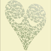 Turtle Doves Laser, Greeting Card