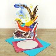 Golden Pheasant, 3D notecard