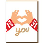 Love You Hands, Greeting Card