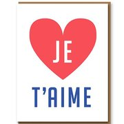 Je T'aime, Greeting Card