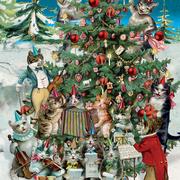 Cat's Christmas, Mini Card-Christmas Cello Pack