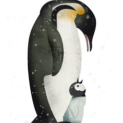 Penguins, Greeting Card