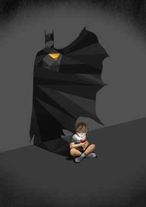 Bat Boy, Greeting Card