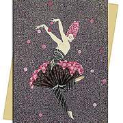 Rose Dancer (Erté) Greeting Card