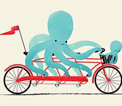 My Red Bike, Greeting Card