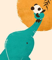 Panda's Little Helper, Greeting Card