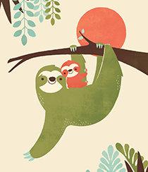 Mama Sloth, Greeting Card