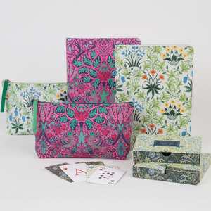 William Morris Dove & Rose Embroidered Pouch