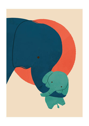Baby Elephant , Greeting Card