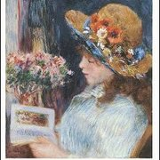 Reading Girl (1886), Greeting Card