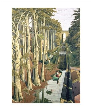 View from a Canal Bridge, Greeting Card
