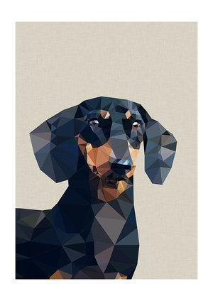 Daschund, Greeting Card